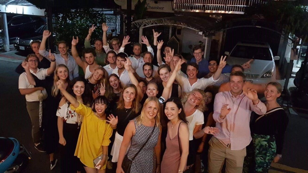 2017 Welcome dinner for Swedish students