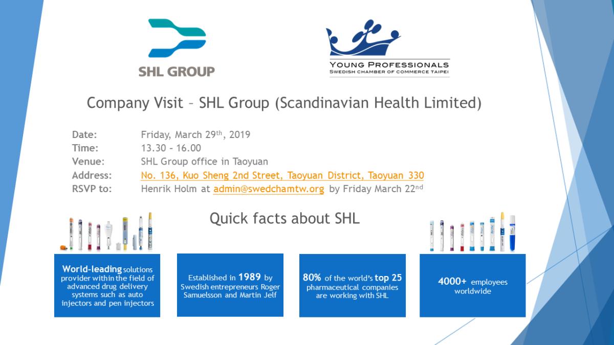 Company Visit - SHL Group (Scandinavian Health Limited)