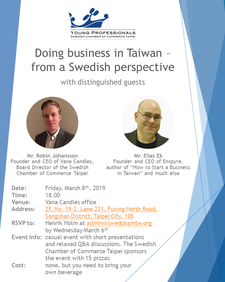 Doing business in Taiwan - from a Swedish Perspective