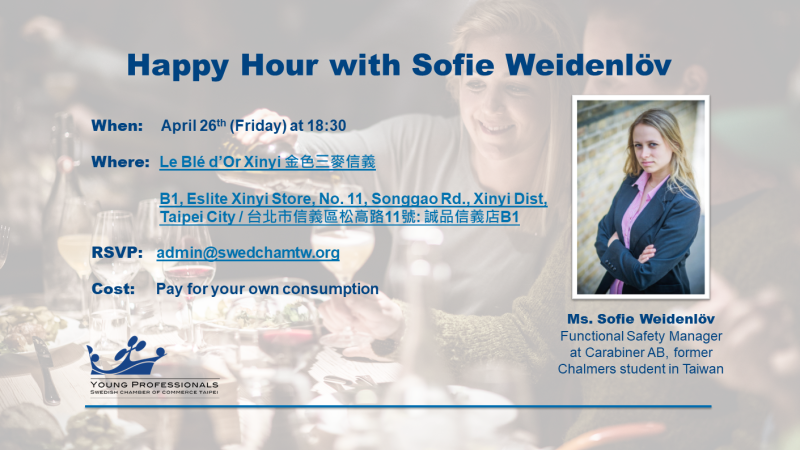 Invitation Card Happy Hour with Sofie Weidenlöv